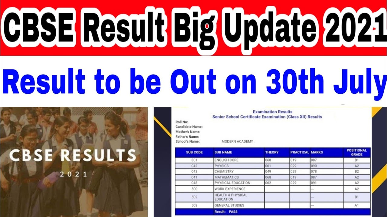 Finally- Result to be released on 30th July - Confirmed by CBSE Source - 12th & 10th