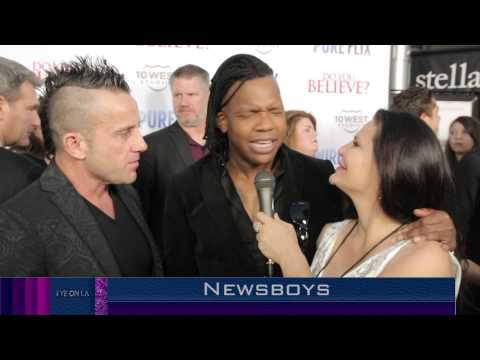 DO YOU BELIEVE?  MOVIE PREMIERE W The NEWSBOYS and Jackie Watson French Reporter