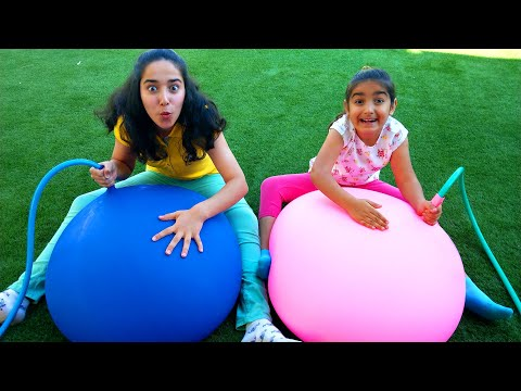 Fun Games with Giant Water Balloon