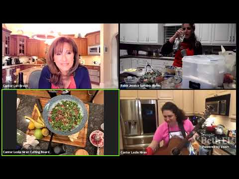 """High Holy Day Cooking Class with Special Guest """"Cantor in the Kitch"""" - Cantor Leslie Niren, with Can"""