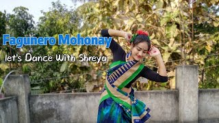 Fagunero mohonay Dance Video | Let's Dance with Shreya