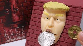 Building the Wall Greedy FaceBank DIY Trump Bank