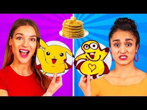 WYZWANIE NALEŚNIKOWE! Jak Zrobić Logo, Spongeboba I Emotki Na Naleśnikach W 24 Godziny!