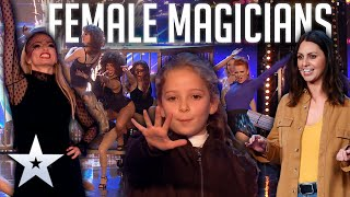 Most SPELLBINDING FEMALE Magicians | Britain's Got Talent
