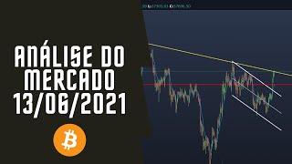Análise gráfica e sentimental do Bitcoin - 13/06/21