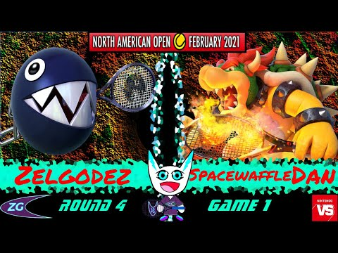Nintendo North American Open - Mario Tennis Aces Tournament Round 4, Game 1 - Zelgodez vs Dan |