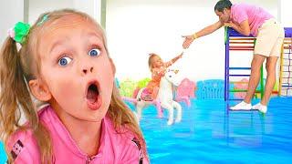 동요 와 어린이 노래 - 바닥이 물이에요   마야와 메리