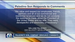 Paladino is a chairman of elliott development, run by his son, and the company took to facebook distance themselves from comments made in artvoice.◂wk...