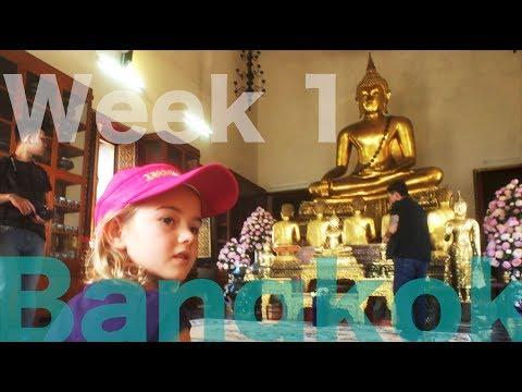 Bangkok - Week 1 - Huge Lizards, Wat Pho, River Cruise and Art in Paradise