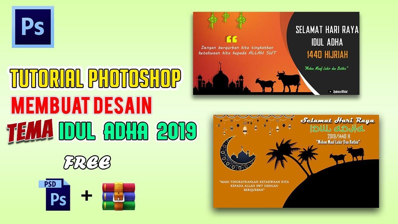 """TutoriaL Desain """"Ucapan Idul Adha 1440 H"""" di #Photoshop ..."""