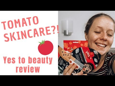 TOMATO SKINCARE?! FIRST IMPRESSIONS OF YES TO TOMATOES RANGE!* | Vogue Mode