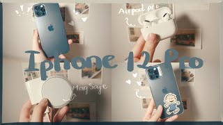🍎Unboxing iPhone 12 Pro + MagSafe + Airpods Pro + accessories📱