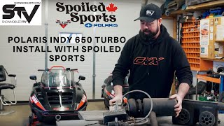 Polaris Indy 650 Turbo Install with Spoiled Sports