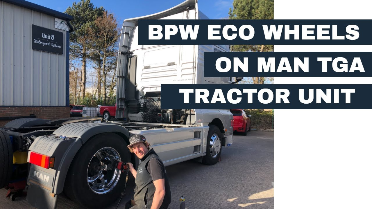 New aluminium BPW ECO wheels on MAN TGA tractor unit