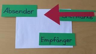Briefe schreiben (2): Ich beschrifte einen Briefumschlag - Rikes Schulkiste