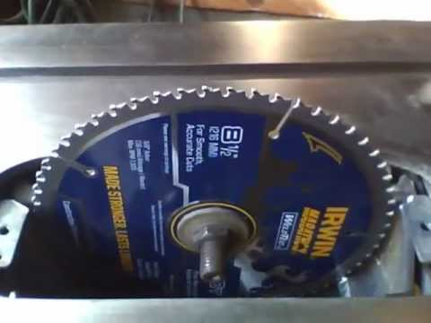 Table saw blade diameter upgrade youtube table saw blade diameter upgrade greentooth Images
