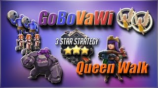New TH9 QueenWalk Attack Strategy 2017 | Guide + Attack Replays | TH9 3 Star War Attack Strategy