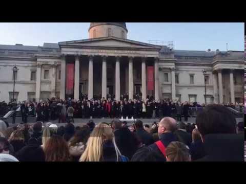 Londres : rassemblement à Trafalgar Square au lendemain de l