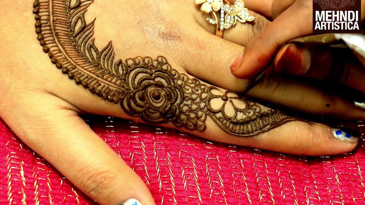 75c0fa1b30572 Easy Arabic Henna Designs:Simple Mehndi Design for hands Step by Step for  Beginners|MehndiArtistica - YouTube