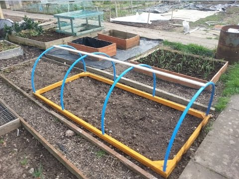 d i y how to make a hoop house coldframe netcloche