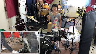 """I covered the song of my favorite """"Stray Cats""""! The drum that stood..."""