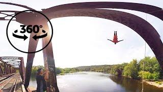 Bridge Jumping | Cliff Life | 4k VR 360° Video