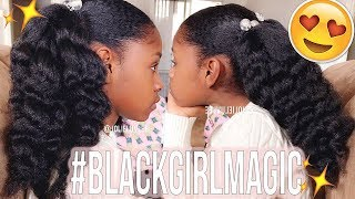 Growing Her NATURAL HAIR | What I Use &  Her Regimen?