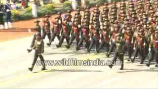 Soldiers Marching on Republic Day, India