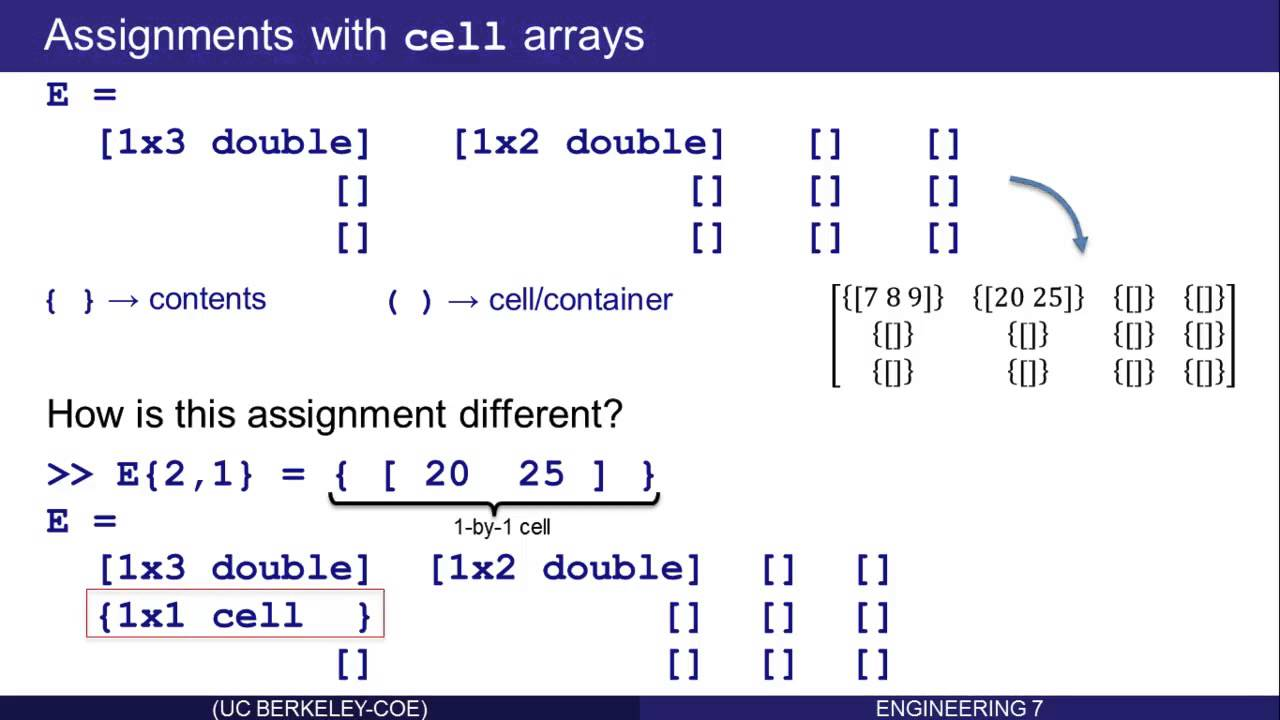 Cell and Struct Arrays in Matlab: Part 5 (of 16)