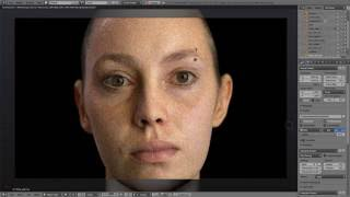 Blender Cycles. Study of realistic human skin using Emily 2.1