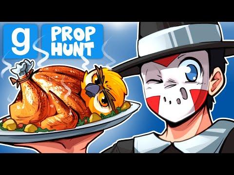 Gmod Ep. 100 - MY 100TH GARRY'S MOD VIDEO! (Thanksgiving OWL) Prop Hunt!
