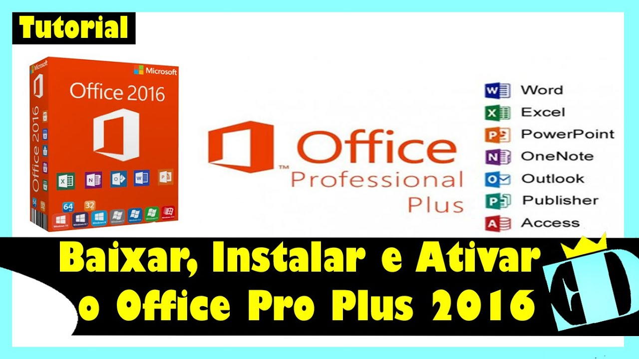 Office Profissional Plus 2016 COMPLETO – Down… ✅✅✅