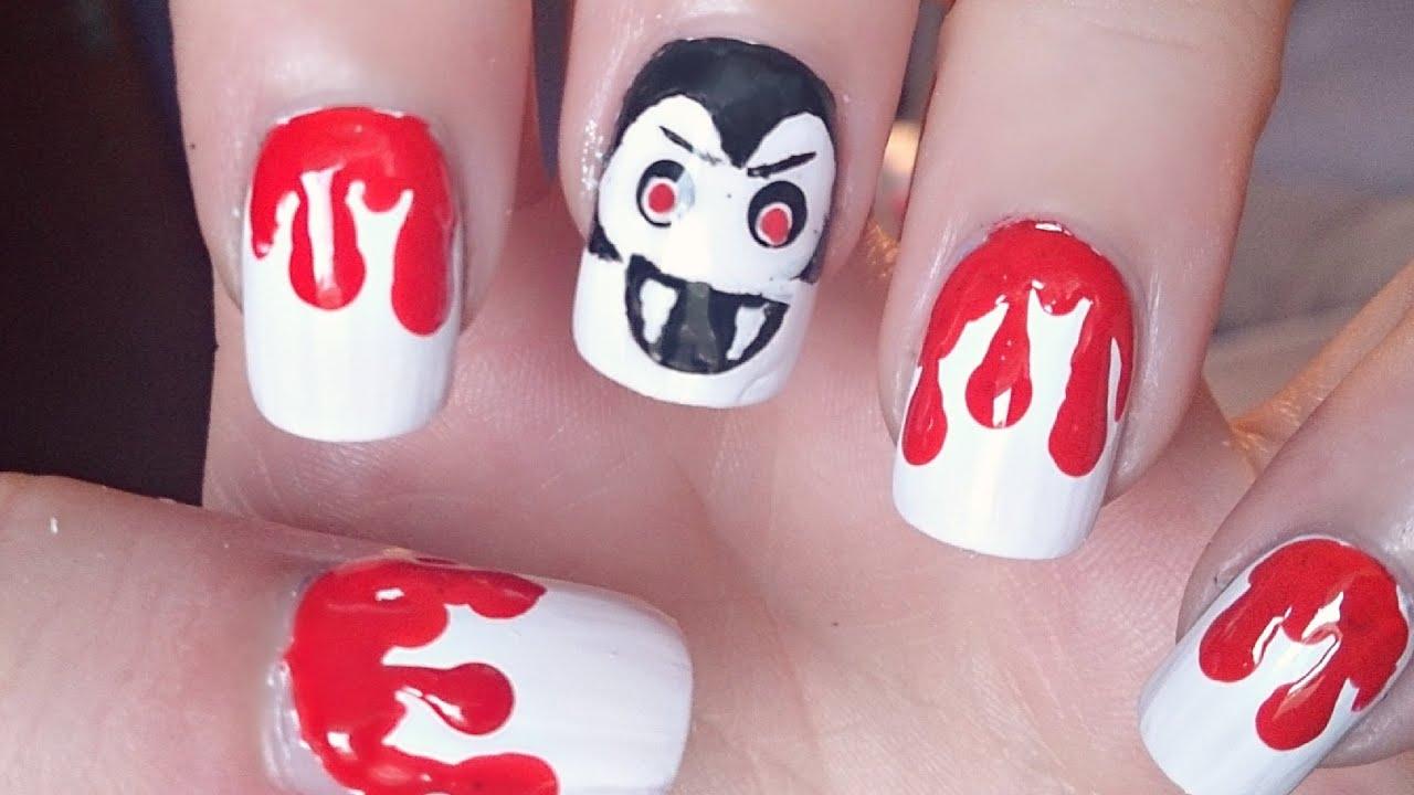 Halloween Vampire Nail Art Tutorial - Halloween Vampire Nail Art Tutorial - YouTube