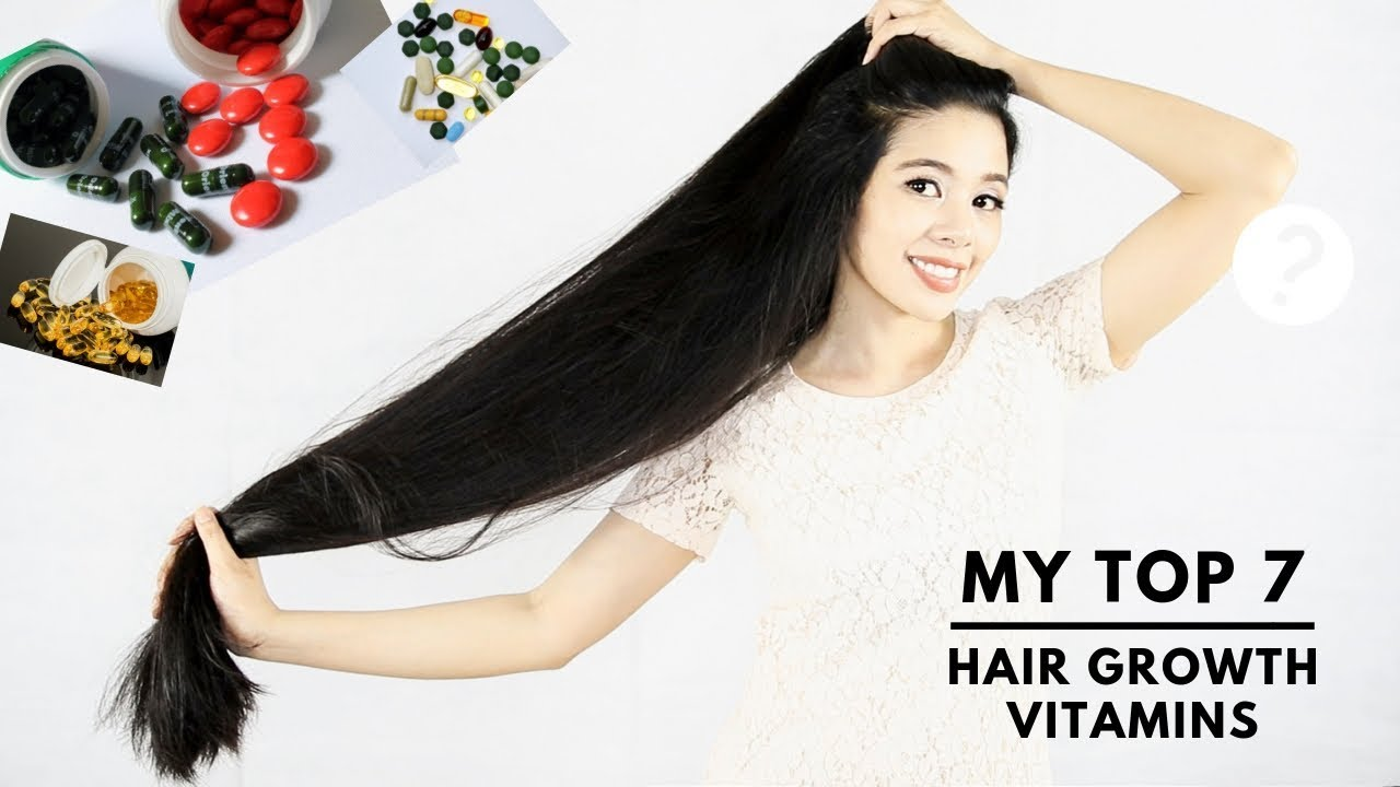 My Top 7 Vitamins Supplements For Faster Hair Growth Thicker Hair Beautyklove Youtube