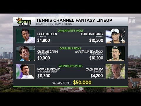 DraftKings Tennis Channel Fantasy Lineup 2019 US Open Day 1 Picks