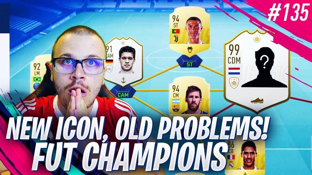 FIFA 19 I GOT A NEW ICON BUT IT DIDN'T HELP ME BEAT EA SPORTS! FUT CHAMPIONS