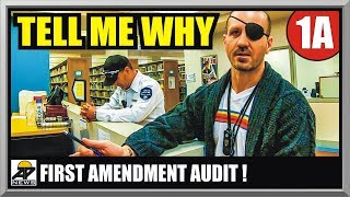 EGO TRIPPING SECURITY PUT IN CHECK  LAS VEGAS LIBRARY  First Amendment Audit  Amagansett Press