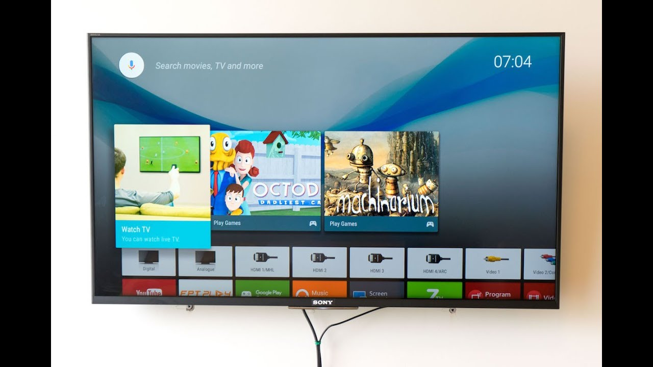 Sony Bravia Kdl 43w800c Android Tv Testing Youtube