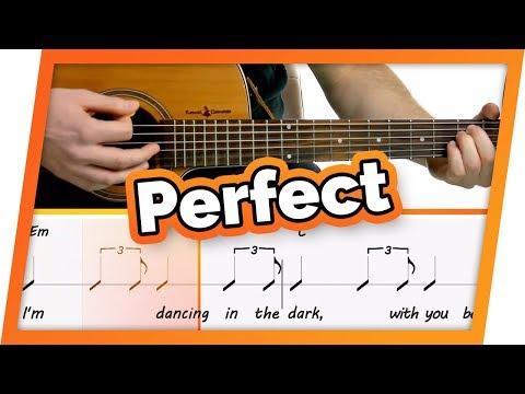 Perfect – Ed Sheeran – Play Along / Guitar Karaoke (Easy Chords)