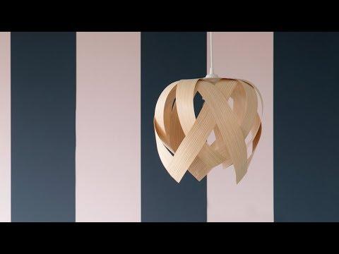 DIY : A unique lamp made of veneer  by Søstrene Grene