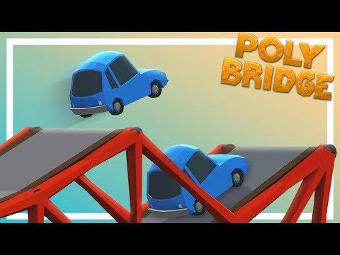 Two bridges walk into a bar, one collapses - Poly Bridge
