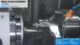 One pin crank shaft/intelligent multitasking machines multus u3000【okuma corporation japan】