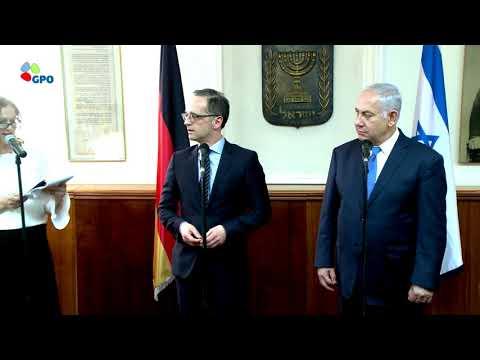 PM Netanyahu Meets German Minister of Foreign Affairs Heiko Maas