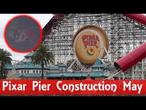 Pixar Pier Construction Update 05/02/18 We See Dash!!!