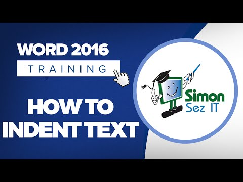 How to Indent Text in Microsoft Word 2016