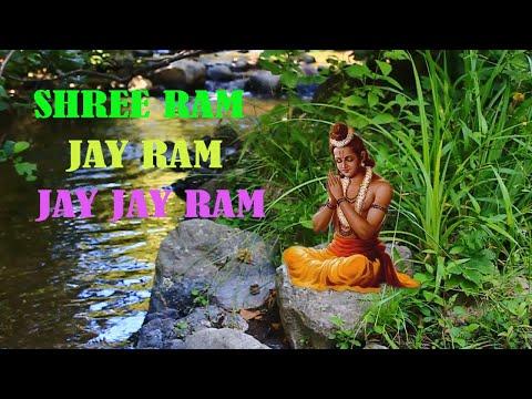 SHREE RAM JAY RAM JAY JAY RAM   1080 Times   Chanting Mantra   No copyright   Free Music and Video