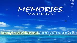 Gambar cover Memories - Maroon 5 , Lirik lagu Bahasa Inggris