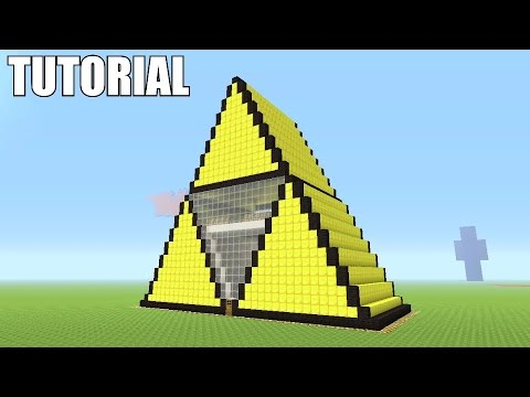 Minecraft tutorial how to make a triforce legend of for Housse zelda