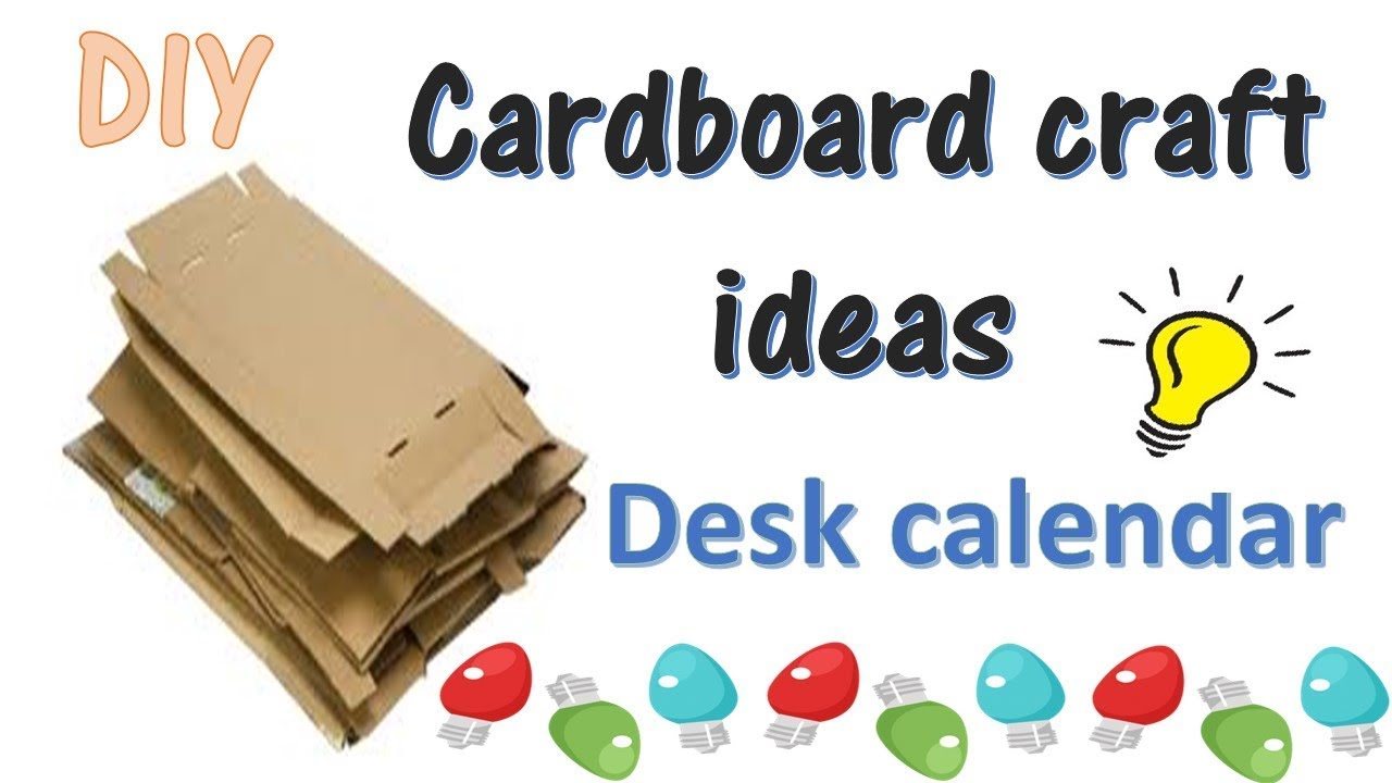 Diy desk calendar best out of waste ideas cardboard for Best out of waste ideas for class 5 in craft