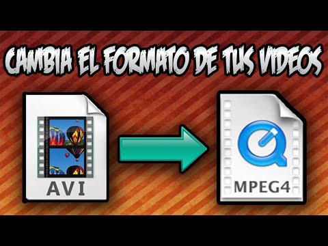 COMO CAMBIAR EL FORMATO A CUALQUIER VIDEO (mp4, avi, mov, ect..)   2016